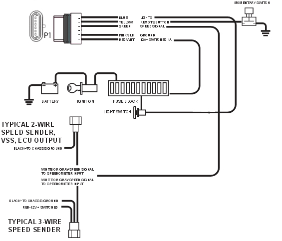 Electronic Speedometer how to and why from NVU - New Vintage USA | Aftermarket Electronic Speedometer Wiring Diagram |  | New Vintage USA