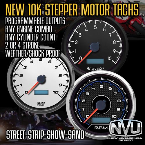 10,000 rpm tachometer stepper motor led