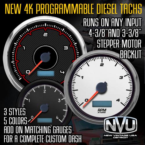 diesel tach 4,000 rpm 4k tachometer