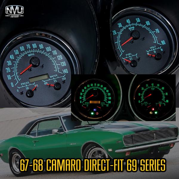 67 68 cmaro custom gauges dash cluster