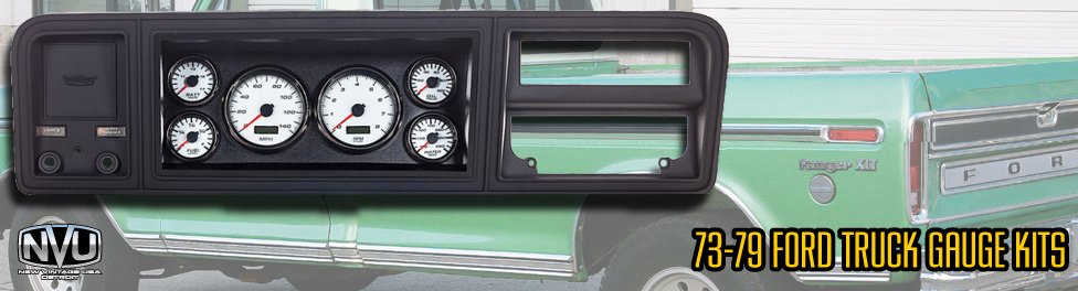 73-79 ford truck f100 custom gauges aftermarket