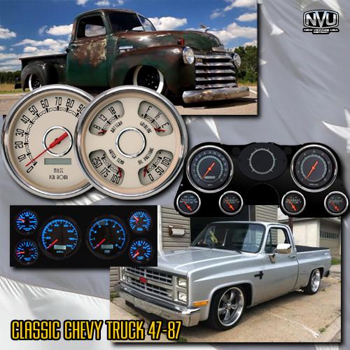 classic chevytruck gauges dash custom aftermarket