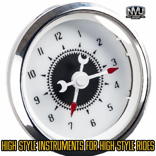 vintage gauges hot rod rat rod clock gauges