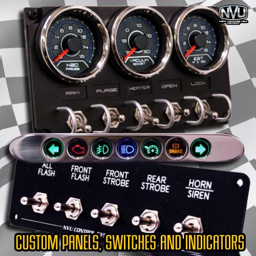 custm toggle switch panel with gauges led lights turbo nitrous