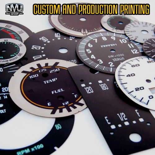 printing dash dials gauges instrument panel cluster industrial